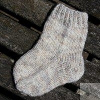 Short Row Heel sock in aran weight yarn