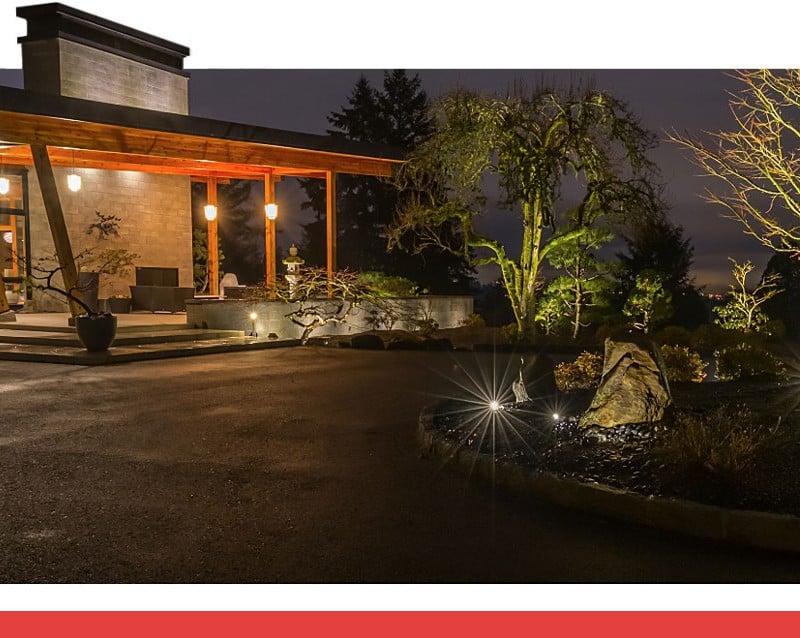 outdoor landscape lighting garden