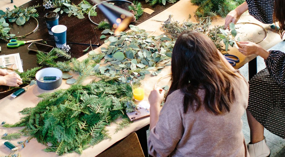 How to Host a Wreath Making Party