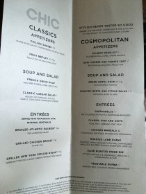 Chic-menu
