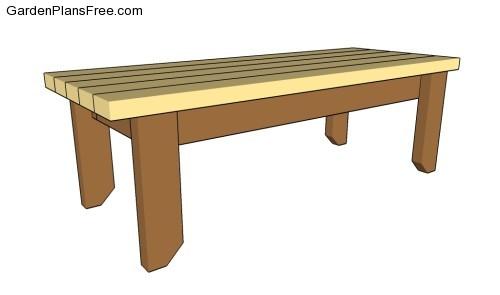 2x4 park bench plans