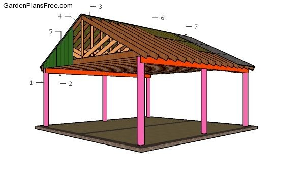 2 Car Carport Plans Free Pdf Download Free Garden Plans How To Build Garden Projects