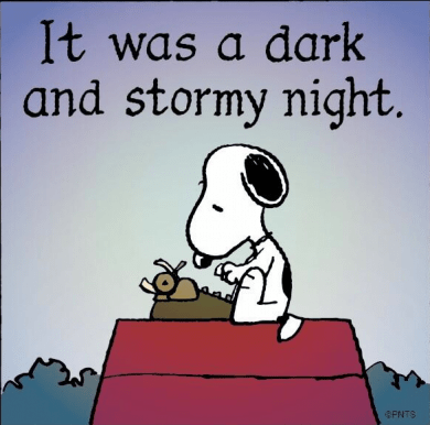 Image result for snoopy in a storm