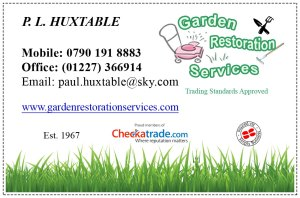 An image of Garden Restoration Services business card
