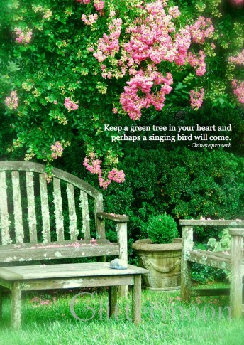 """A Green Tree"" ©Glittermoon Cards 2013"