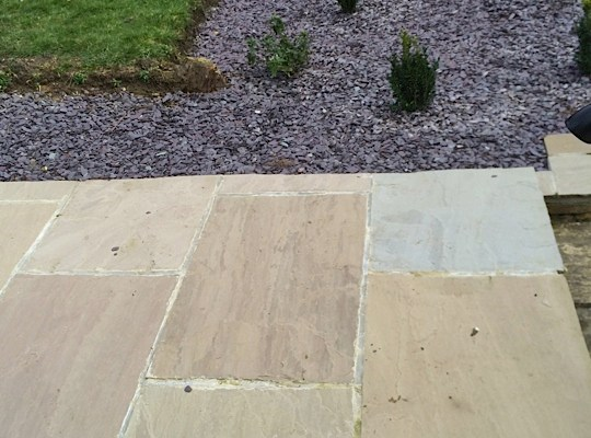 A new garden wall and patio in Skipton