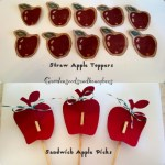 Apple Picks for Sandwiches & Straw Apple Toppers