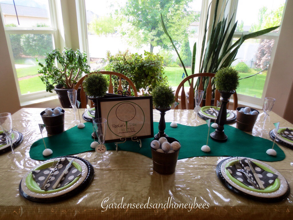 Golf Party Food And Table Decor