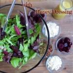 Fresh Beet Green Salad with Honey Dressing