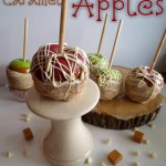 White Chocolate covered Caramel Apples