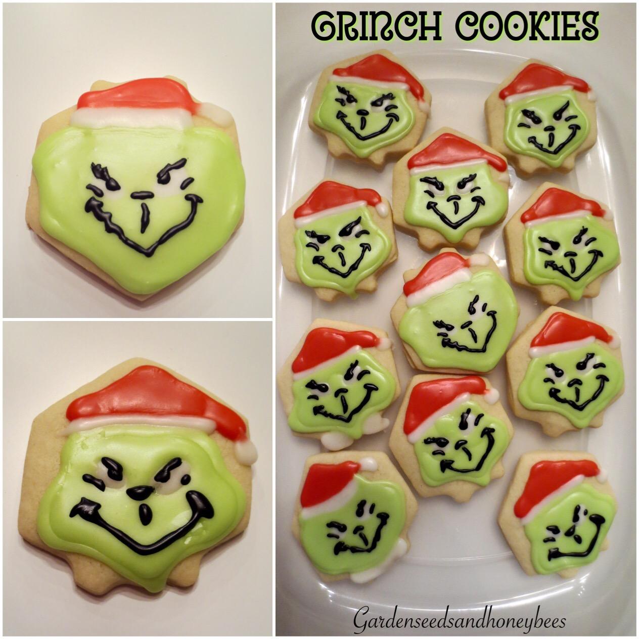 Grinch Heart Cookies Garden Seeds And Honey Bees
