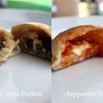 Pepperoni or Mushroom Cheese Pizza Pockets