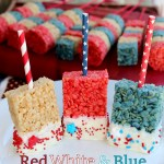 Red White and Blue Rice Krispie