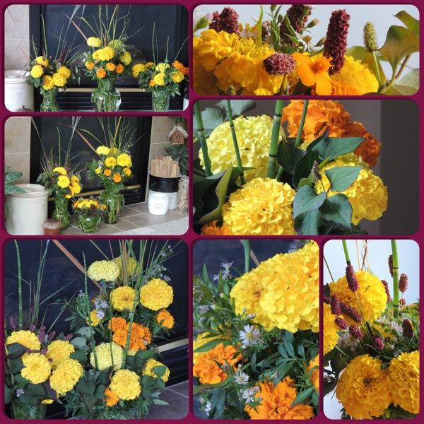 marigold vases