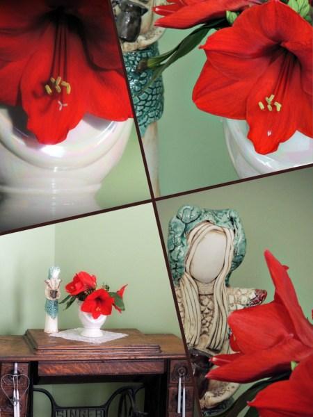 rainbow vase collage