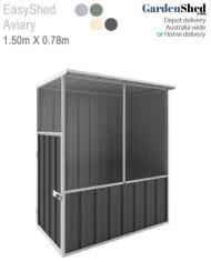 EasyShed Bird Aviary Cage Grey