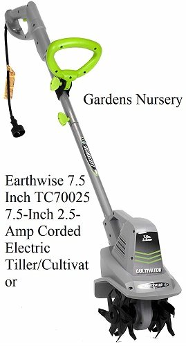 Earthwise 7.5 Inch TC70025 7.5-Inch 2.5-Amp Corded Electric Tiller/Cultivator