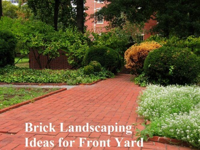 Brick Landscaping Ideas For Front Yard Gardens Nursery
