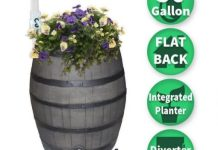 Woodgrain Rain Barrel