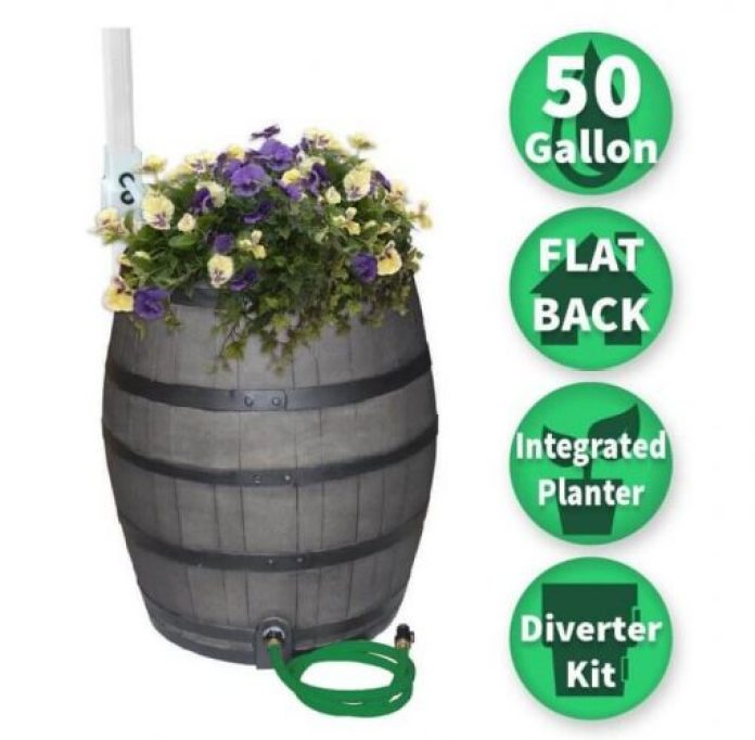 Woodgrain Rain Barrel