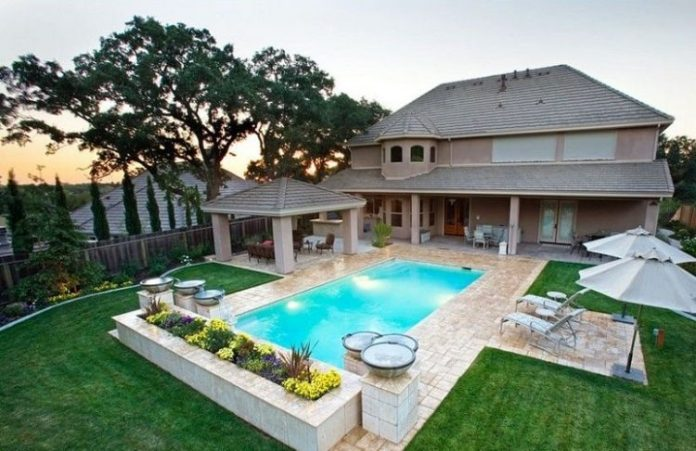 Great Pool Landscape designs Ideas