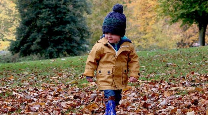 Fall Gardening - Kids and Fall Leaves