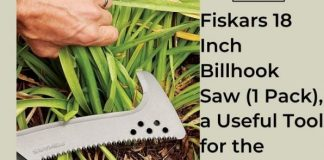 Fiskars 18 Inch Billhook Saw (1 Pack), a Useful Tool for the Gardener