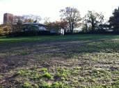 The garden at the start of 2014 when it was allocated as space for a new community garden on campus