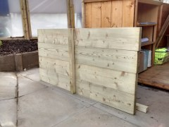 The raised bed packs have arrived! And they're looking very good. Now we've just got to build them!