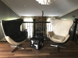 Loft Area: Copenhagen Or Egg Chairs From Restoration Hardware