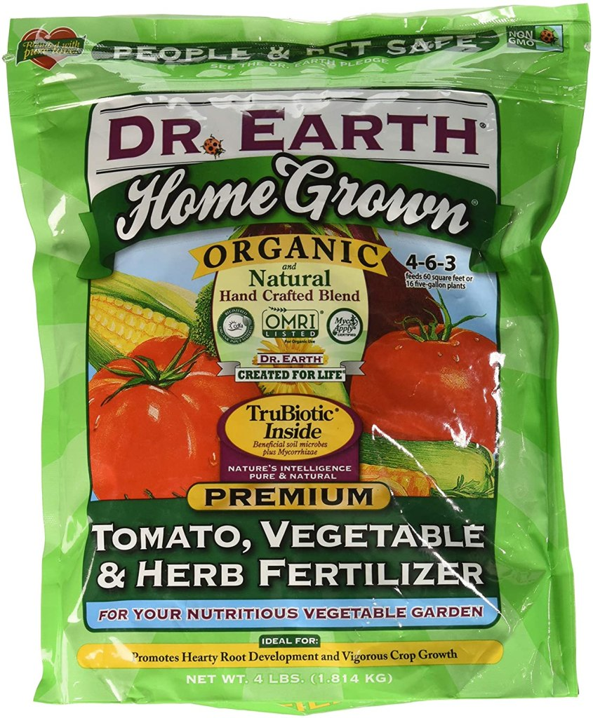 Doctor earth home grown organic fertilizer color green