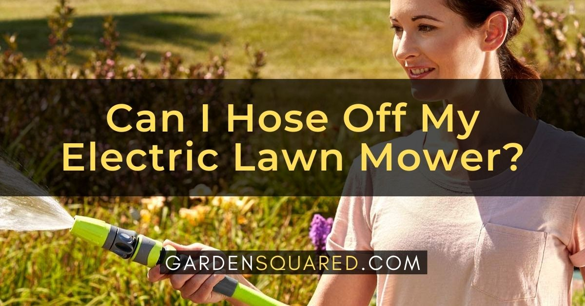 Can I Hose Off My Electric Lawn Mower