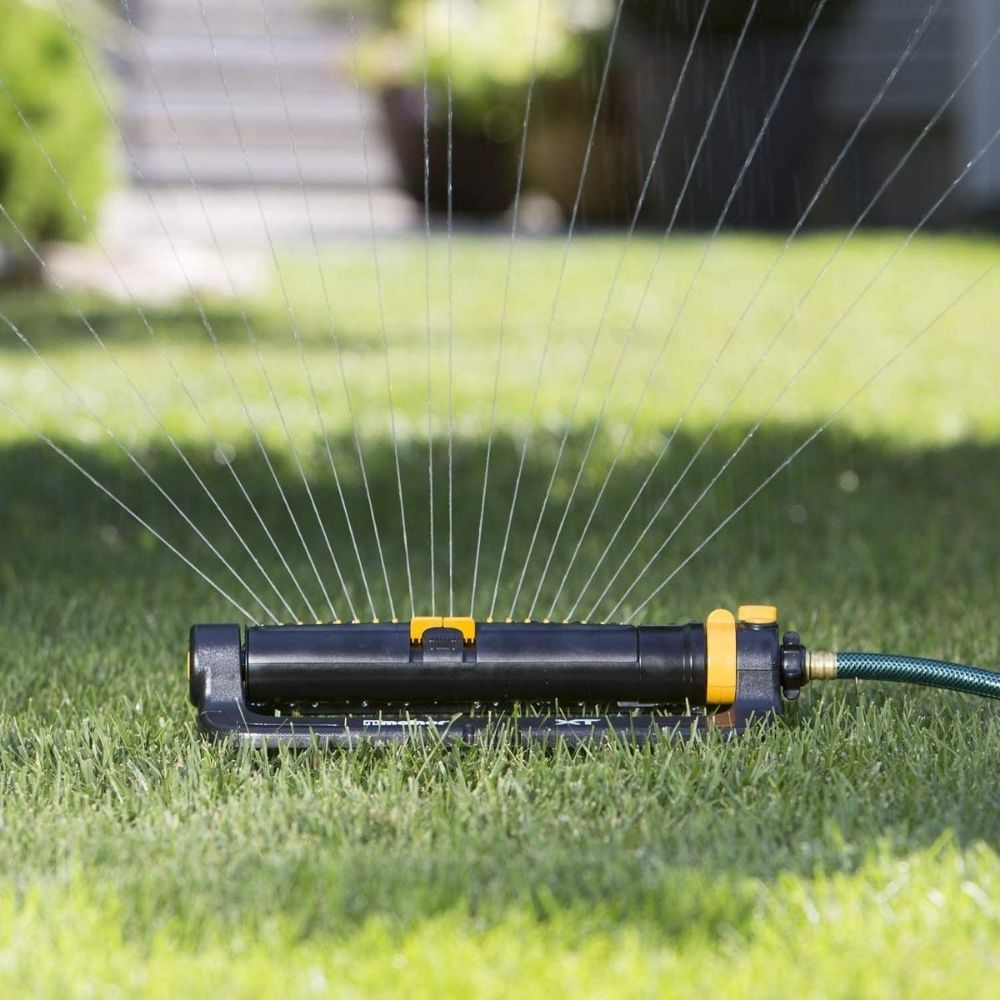 Melnor 65078-AMZ XT Turbo Oscillating Sprinkler with 3-Way Adjustment and QuickConnect Product Adapter Set