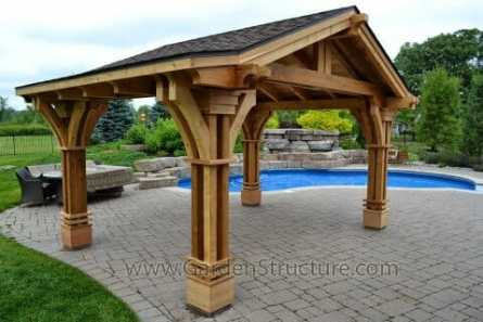 Portico - A pergola with a roof