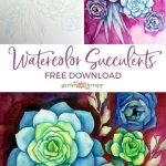 How To Paint Watercolor Succulents The Easy Way Garden Therapy
