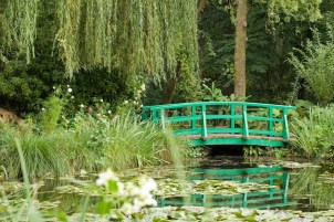 JAPANESE BRIDGE IN MONET''S GARDEN, GIVERNY, FRANCE, AUGUST