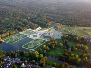 Aerial view of Versailles