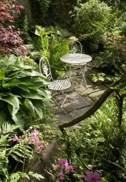 Millgate House - one of the garden's cosy corners