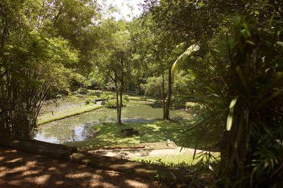 Sri Lanka, Bentota - Geoffrey Bawa's house and garden 'Lunuganga'. Photo Labeet