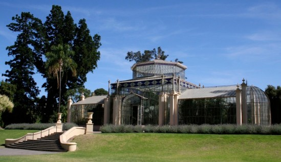 Beautiful Victorian-era Palm House in Adelaide Botanic Gardens