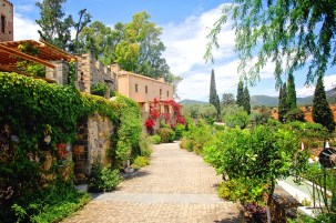 Greece, Monemvasia - gardens of Kinsterna Hotel