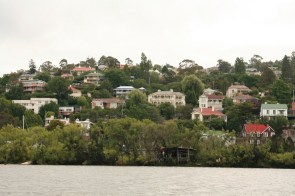 Launceston suburbs from the Tamar River