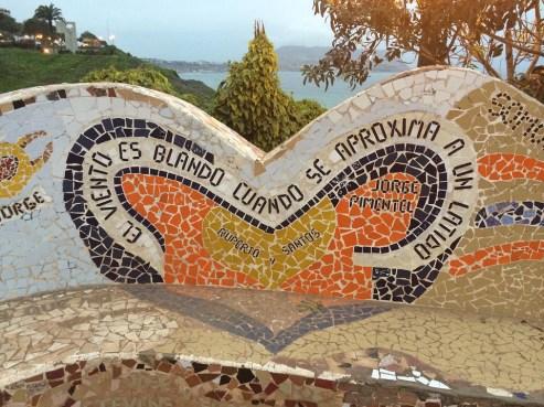 Peru - mosaics in a Lima park