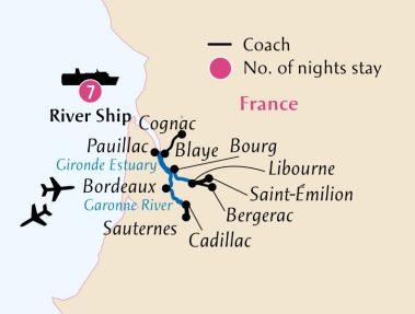 Route Map for Botanic Cruise BOT 1617 BT MED12