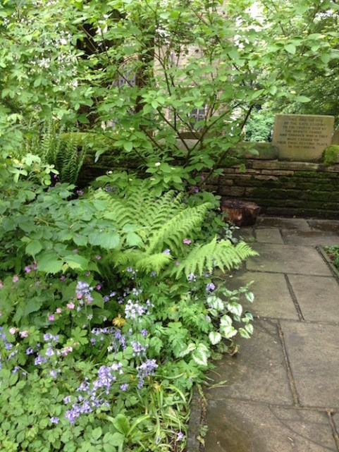 The garden at Haworth Parsonage home of the Brontës. Photo Sussanah Fullerton