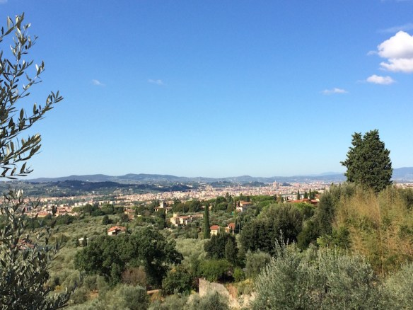 View towards Florence on the road to Villa Gamberaia