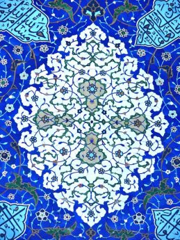 Classic Isfahan blue tiles, Iran