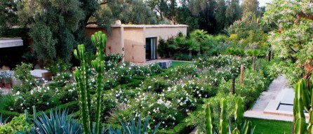 "Dar Andrew, Taroudant, Morocco - by Arnaud Maurières and Eric Ossart. ""Using the same plants as at Dar Igdad, we laid out herea very formal garden corresponding exactly to the architecture of the house. Keeping in mind the advice of the great Brazilian designer Roberto Burle Marx, we used the right plant in the right place, whether rare or commonplace, native or exotic. We often use bold swaths of the same plant to get different moods even in this relatively small garden"". www.maurieres-ossart.com"