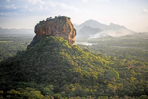 Sigiriya Lion Rock fortress and landscape