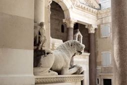 Lion on the Cathedral of Split, Diocletian palace